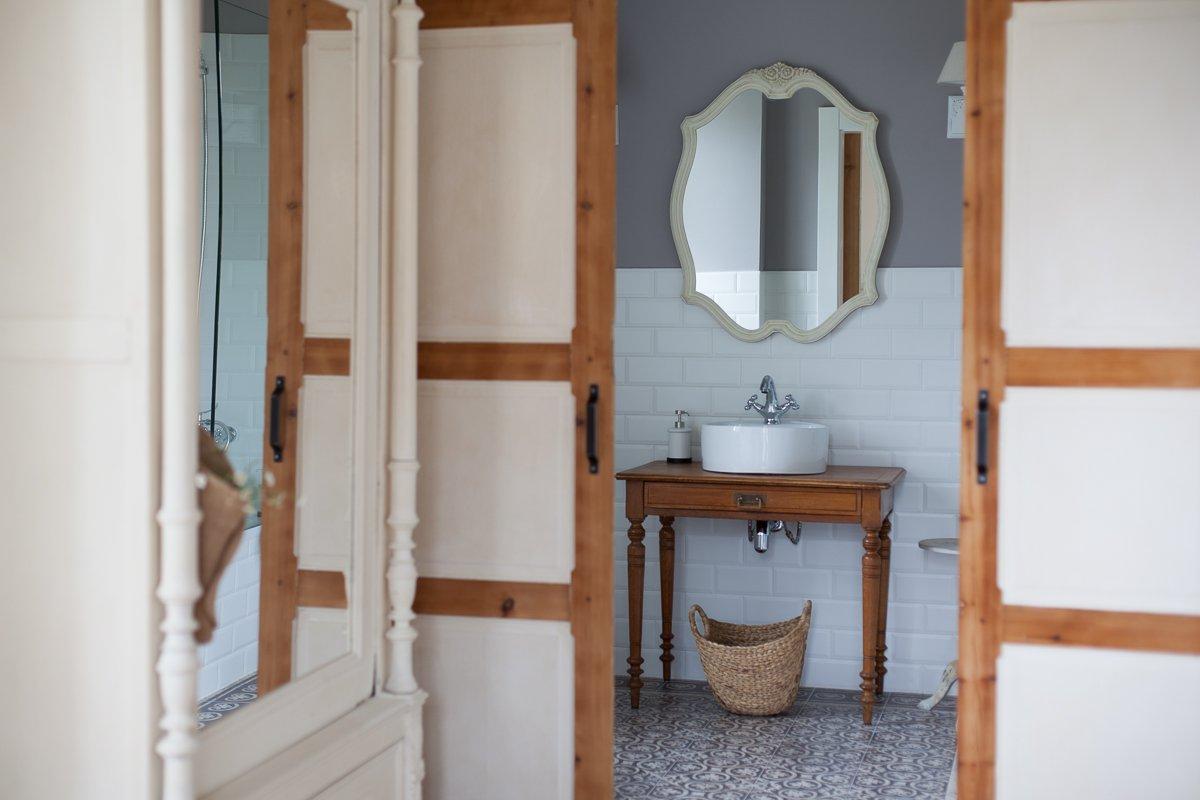 Baño de la habitación Palmeras en Posada Seis Leguas