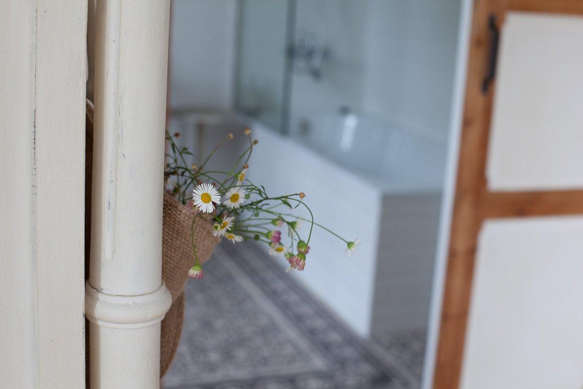 Cuarto de baño de la habitación Palmeras en Posada Seis Leguas