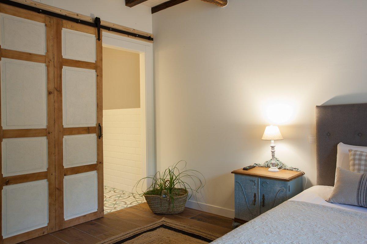 Habitación doble Avellano con estilo de casa de campo